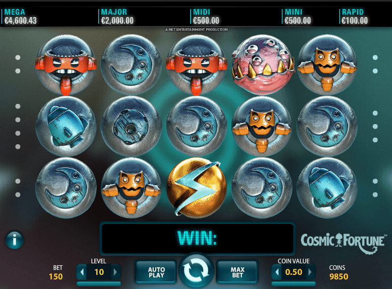 Cosmic Fortune™ Slot Machine Game to Play Free in NetEnts Online Casinos