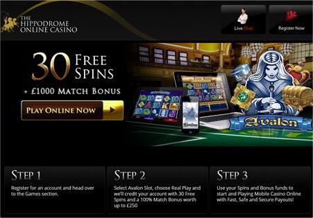 Hippodrome Mobile Casino screenshot 2