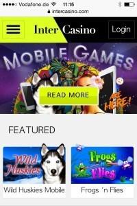 Intercasino Mobile Casino screenshot 2