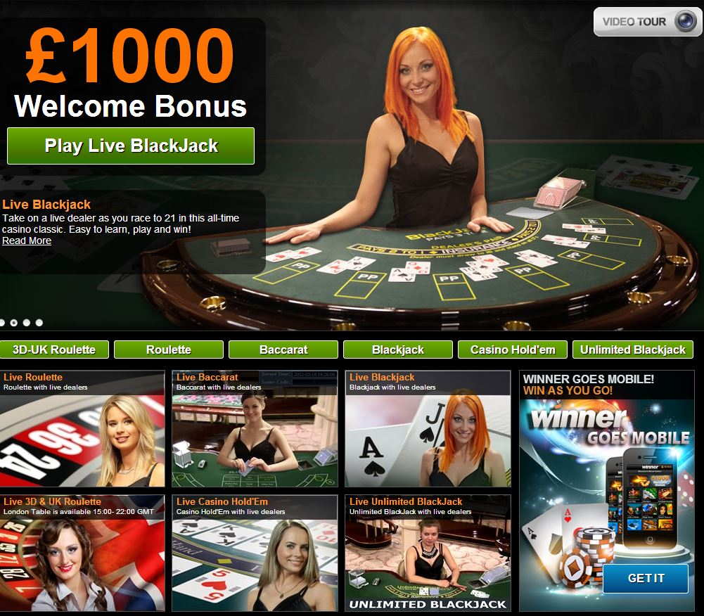 Winner Casino screenshot 1