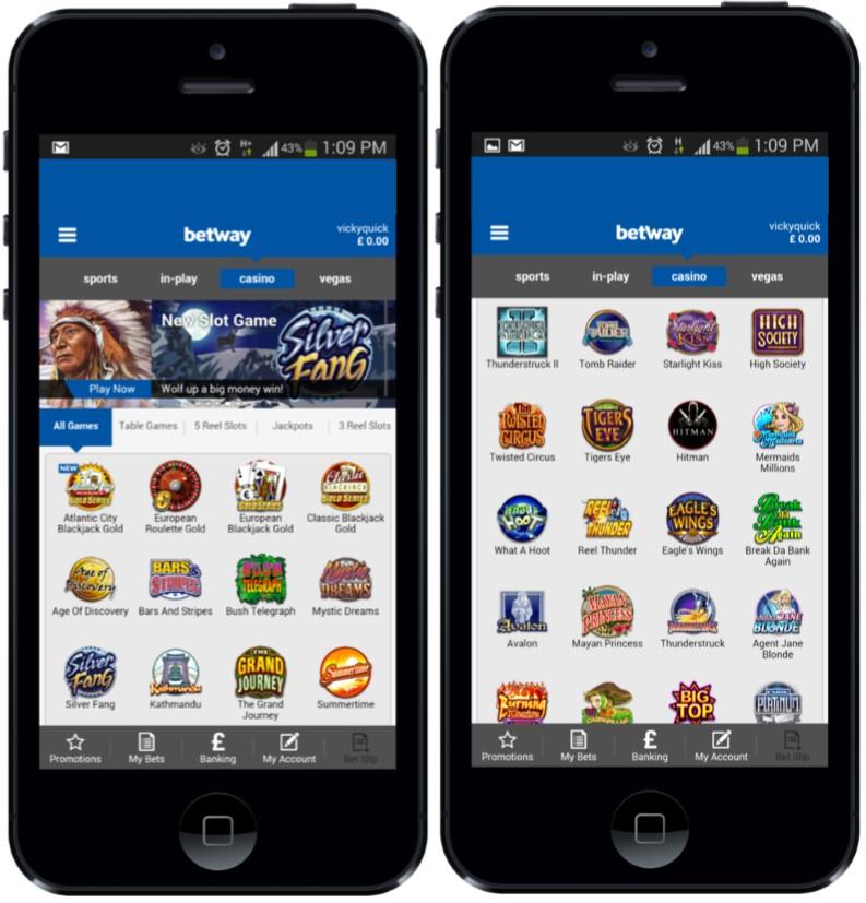 Betway Mobile Casino screenshot 1