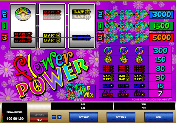 Flower Power Slot Machine - Play Online Video Slots for Free