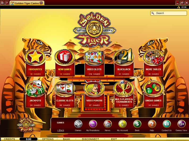 casino flash golden tiger