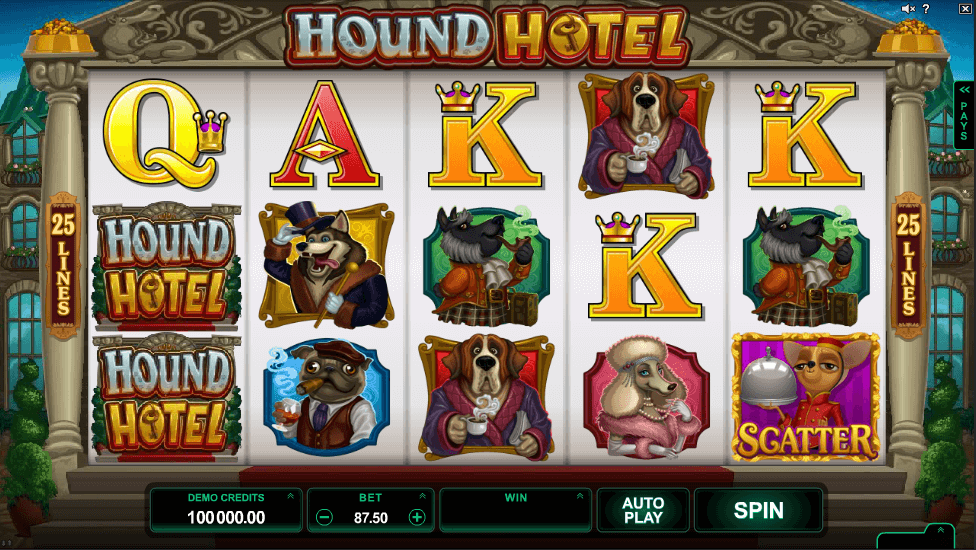 Hound Hotel™ Slot Machine Game to Play Free in Microgamings Online Casinos