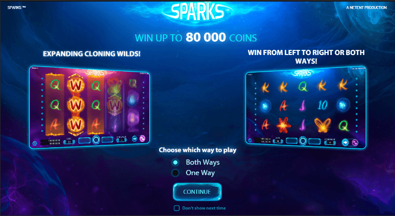 Sparks screenshot 2