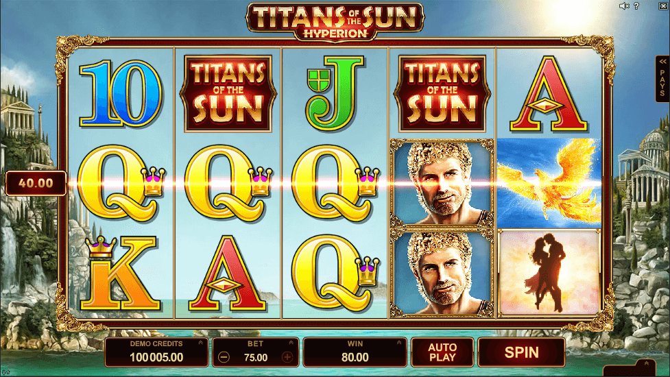 Titans Of The Sun Hyperion Slot Machine Best Uk Online Slots