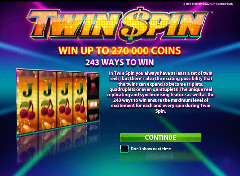 Play Twin Spin Slots Online at Casino.com UK