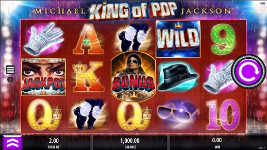 Michael Jackson King of Pop Slot screenshot big