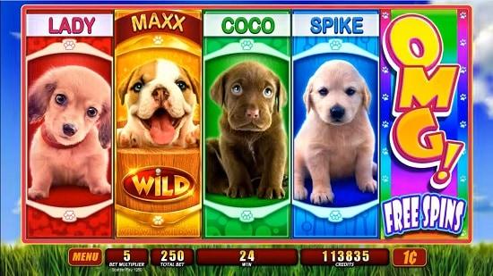 OMG! PUPPIES slot screenshot big