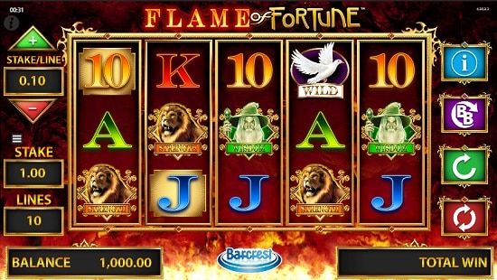 flame of fortune slot screenshot big
