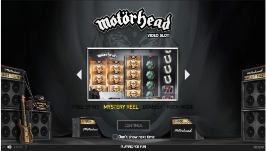 Play Motorhead slot online at Casino.com UK