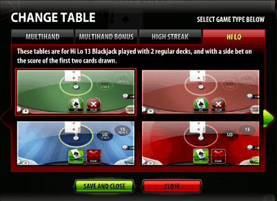 Switching Online Blackjack Tables