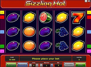 online casino software sizzling hot play