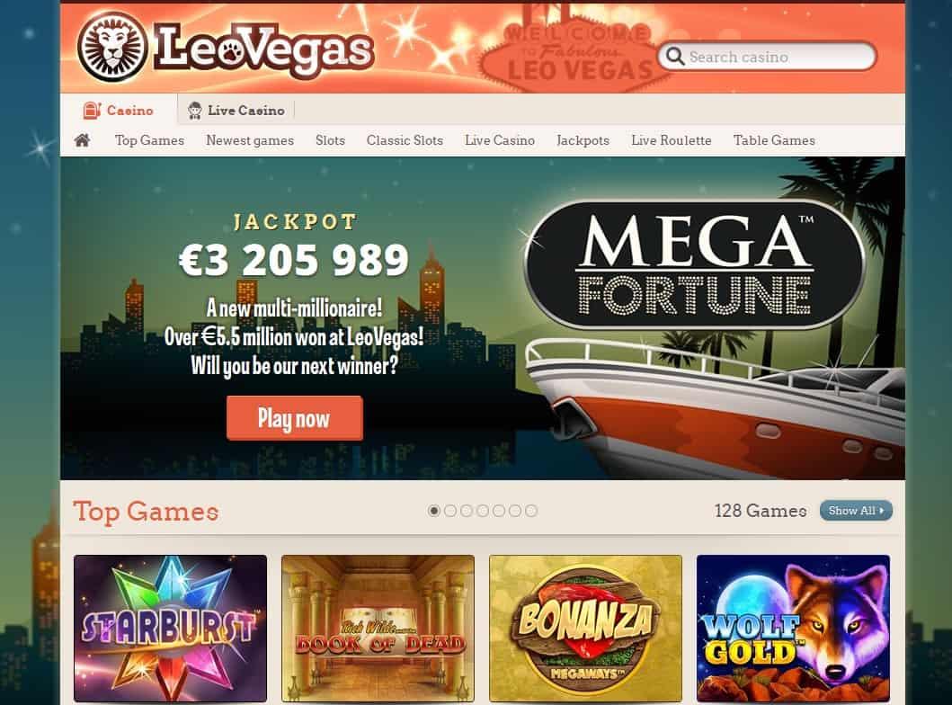 leo vegas casino screenshot