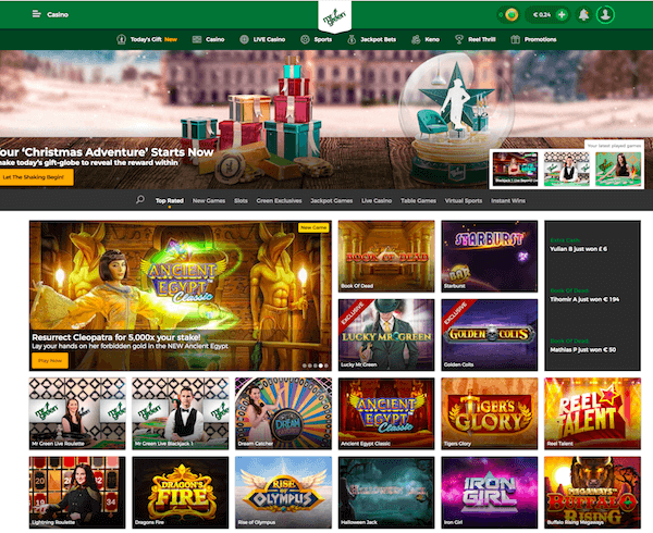 Mr Green Casino screenshot 1