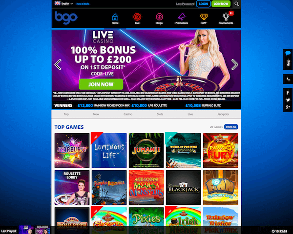 BGO Casino screenshot 2