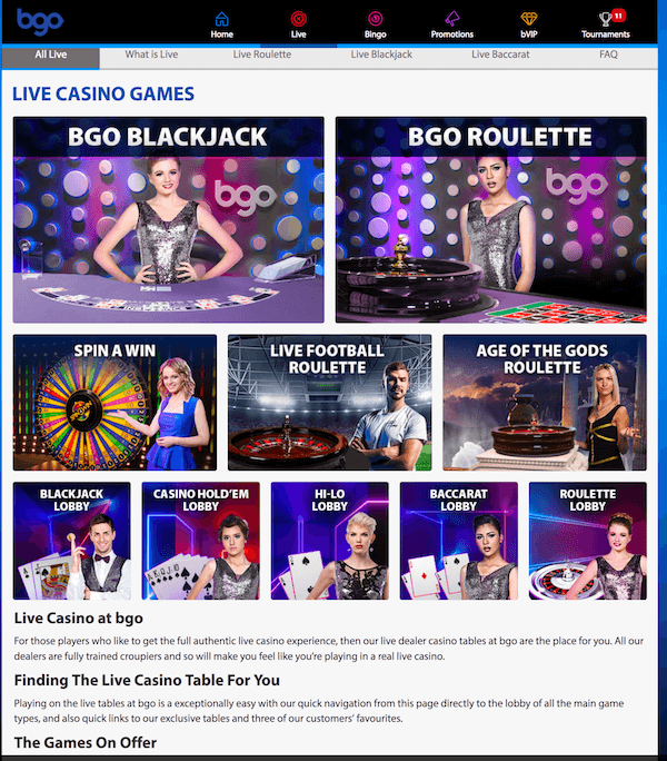 BGO Casino screenshot 1