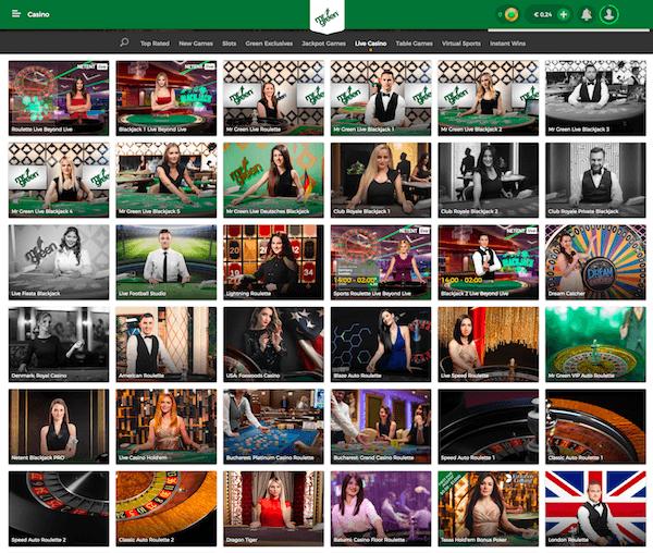 Mr Green Casino screenshot 2