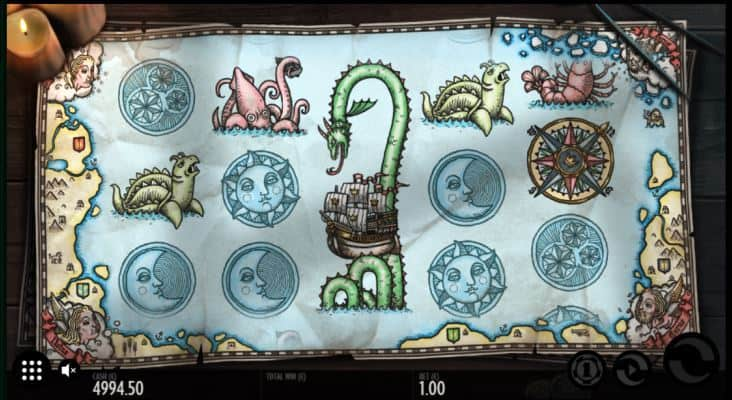 1429 Unchartered Seas Slot Machine Screen View