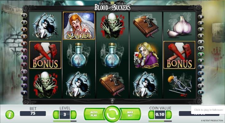 Bloodsuckers Slot Machine Game View