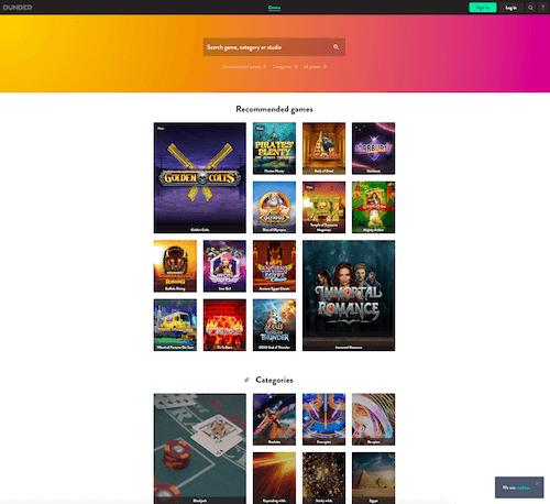 Dunder Casino screenshot 1