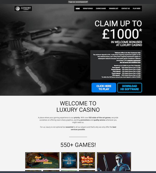 Luxury Casino screenshot 1
