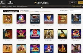InterCasino screenshot 1