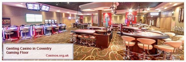 Genting Casino Coventry Gaming Floor