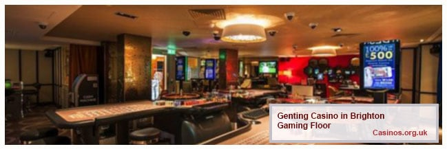 Genting Casino in Brighton, Gaming Floor