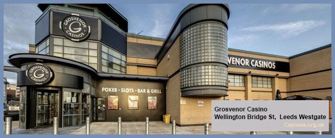 Grosvery Casino in Leeds Westgate Outdoor View