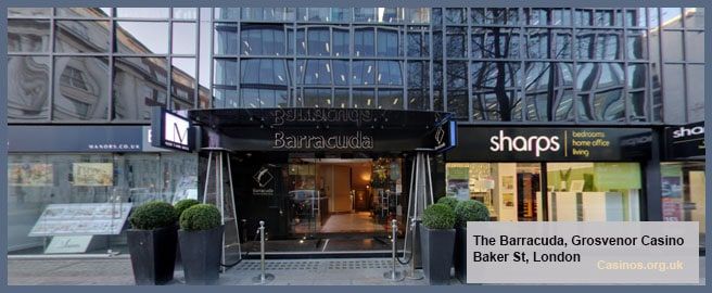 The Barracuda, Grosvenor Casino Baker St, London Outdoor View