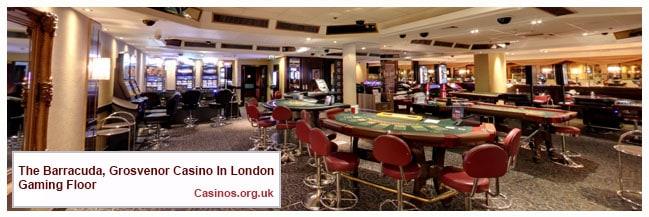 The Barracuda, Grosvenor Casino in London Gaming Floor