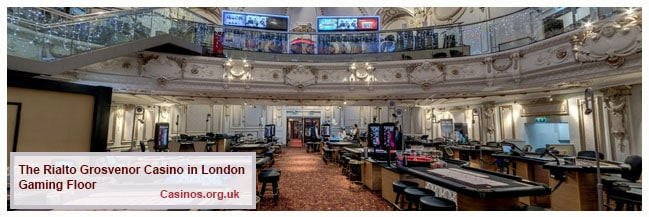 The Rialto Grosvenor Casino London Gaming Floor