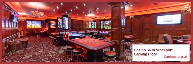 Casino 36 in Stockport Gaming Floor