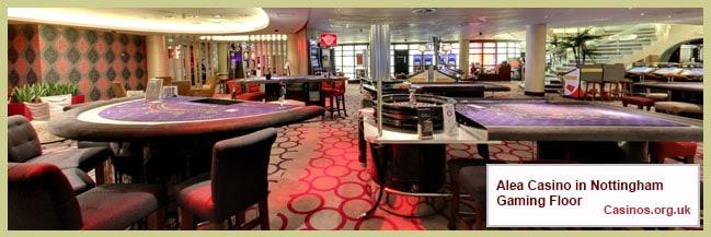 Alea Casino in Nottingham Gaming Floor