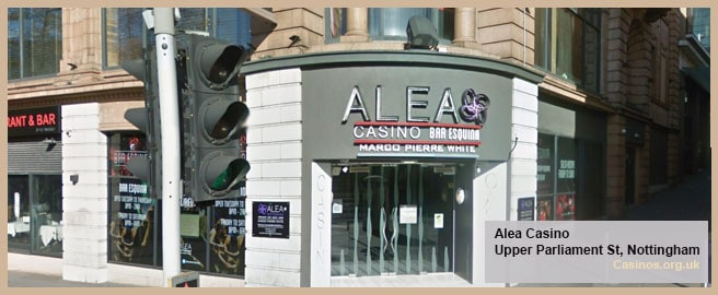 Alea Casino in Nottingham Outdoor View