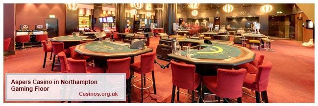 Aspers Casino in Northampton Gaming Floor