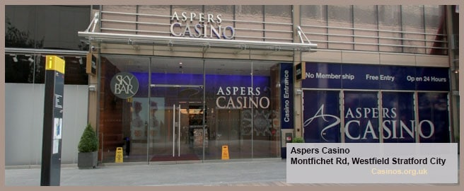 Aspers Casino in Westfield Stratford City Outdoor View