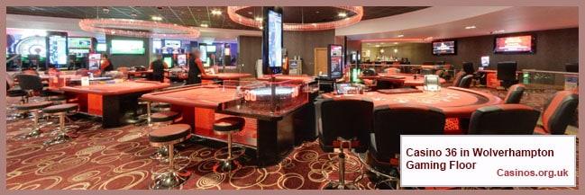 Casino 36 in Wolverhampton Gaming Floor