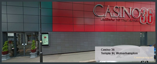 Casino 36 in Wolverhampton Outdoor View