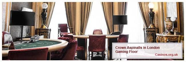 Crown Aspinalls London Gaming Floor