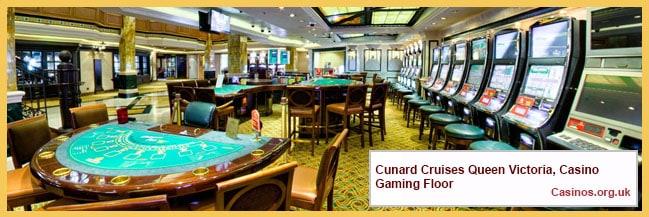 Cunard Cruises Queen Victoria, Casino Gaming Floor