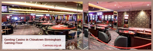 Genting Casino in Chinatown Birmingham Gaming Floor