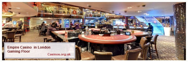 Empire Casino in London Gaming Floor