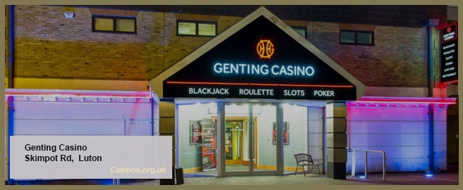 Genting Casino in Luton Outdoor View