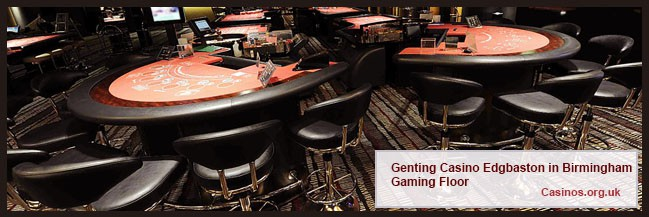 Genting Casino Edgbaston in Birmingham Gaming Floor