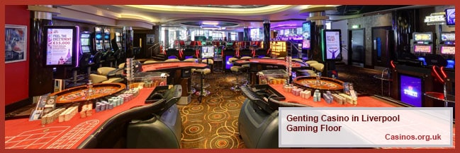 Genting Casino in Liverpool Queen Square Gaming Floor