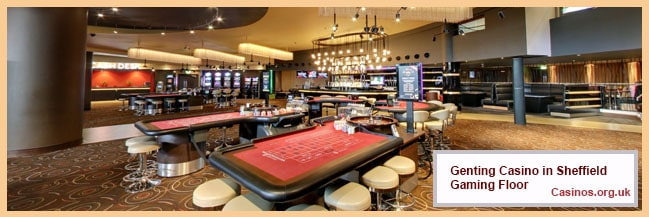 Genting Casino in Sheffield Gaming Floor