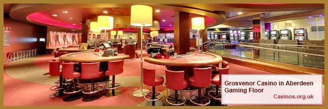Grosvenor Casino in Aberdeen Gaming Floor
