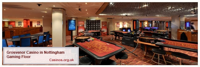 Grosvenor Casino in Nottingham Gaming Floor